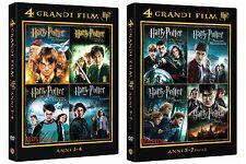 Harry Potter 8 DVD la Collezione Completa - In Due Cofanetti Separati Sigillati