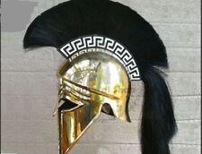 New Armour Medieval Greek Corinthian Armour Helmet Black Plume Knight Spartan