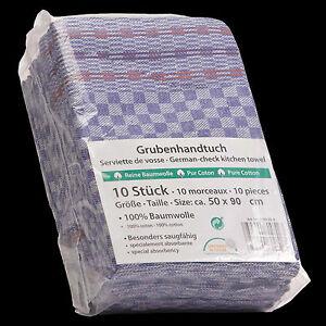 10 Grubentücher Geschirrtücher Küchentücher Touchon 50x90 Lila Weiß Grubentuch