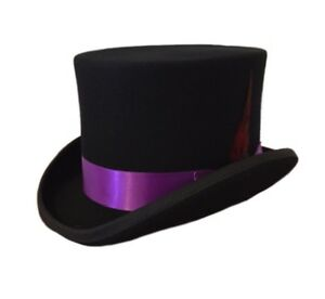 TOP QUALITY 100% WOOL TOP HATS WEDDINGS FESTIVALS GOTHIC STEAMPUNK EVENTS S-2XL