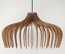 Pendant Light Wood Lamp Shade Lighting Ceiling Fixture Modern Hanging Industrial