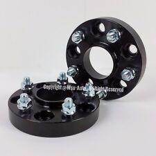 2 Pcs Black Hub Centric Wheel Spacers | 5X114.3 To 5X114.3 12X1.5 60.1 CB 25MM