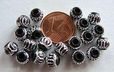 20 perles rondelles taillées ROUGE 6x4mm Aluminium Alu metal DIY création bijoux