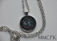 Game of Thrones House Targaryen Dragon Pendant Necklace US Seller