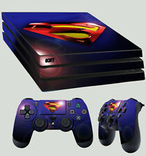 PS4 PRO aderente SUPERMAN LENTE Flair supereroe logo + 2 x Tappetino vinyl decal