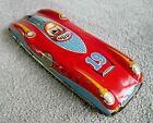 VINTAGE WELLS BRIMTOY 1950s TINPLATE GYRO RACING CAR TOY RARE  J674