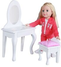 """Be My Girl Wood Doll Vanity for 18"""" Dolls"""