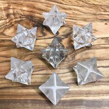 1 x Natural Clear Quartz Merkaba Star 20mm Crystal Master Healing Stone