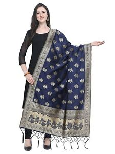 Indian women fashion poly silk Banarasi style dupatta,Scarf,stole, (Free ship)