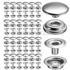200Piece(50 Sets)Stainless Socket Fastener Snap Set Press Stud Button Marine