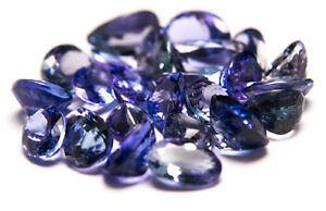 Collection of FACETED TANZANITE, loose blue and phiolet GEMSTONES, 46.1 ct