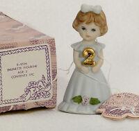 VINTAGE Enesco- Growing Up Girls - Brunette Age 2 Figurine, E9526    NEW IN BOX!