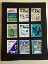 "PRESTON NORTH END RETRO PROGRAMME PICTURE MOUNTED 14"" By 11"" READY TO FRAME"