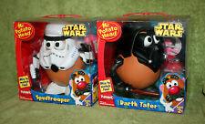 Playskool Star Wars Mr Potato Head Darth Tater and Spud Trooper Lot vader storm