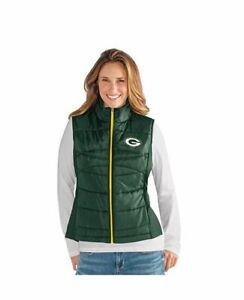 G-III 4her Green Bay Packers Women's Wing Back Jacket Vest - Green
