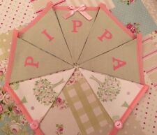 💕PERSONALISED Girl Laura Ashley Esme and Sage Pretty Bunting Flags Banner💕