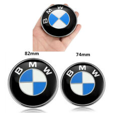 2Pcs 82Mm & 74Mm For Bmw Front Hood & Rear Trunk Emblem Logo Emblem Oem