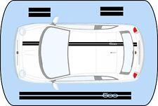 Fiat 500 Black Roof - Hatch - Bonnet Stripes stickers graphics decals A740