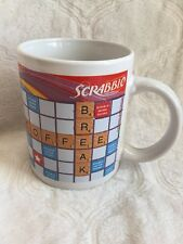 "Hasbro SCRABBLE Crossword Board Game Coffee Cups/Mug ""Coffee Break"" ""Hot Stuff"""