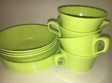 15 Vtg Allied Chemical Melmac Dinnerware Dishes Lime Green MCM Melamine Briard