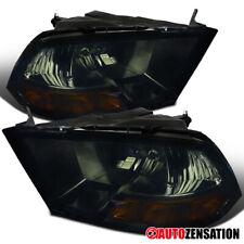 Fits 2009-2018 Dodge Ram 1500 Smoke Headlights Head Lamps Pair+Amber Left+Right