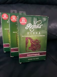 Reshma Henna Natural Burgundy Rich Conditioning Semi Permanent Hair Color LOT OF