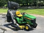 """John Deere X540 with 54"""" mowing deck, 48"""" snow blower, leaf collection system"""