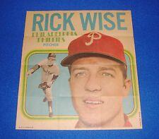 Vintage Topps Baseball Insert Poster Rick Wise Phillies
