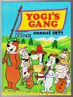 YOGIS GANG ANNUAL 1977 KIDS BOOK YOGI BEAR Vintage HC