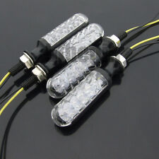 4x 12 LED MOTORCYCLE MOTORBIKE TURN SIGNAL INDICATORS LIGHT LAMP AMBER UNIVERSAL