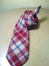 "Vintage Pendleton Neck Tie Colorful Plaid 100% Virgin Wool 58"" Length"