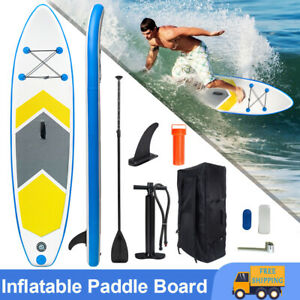 10FT Paddle Board Inflatable Sports Surf Stand Up SUP Surfboard Kit Set Racing