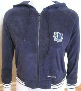 REEBOK DALLAS MAVERICKS MAVS HOODED SWEATSHIRT WOMENS LARGE L LRG LG LADIES NBA