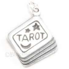 TAROT CARDS Moon star 925 Sterling Silver Halloween Fortune Teller Pendant Charm