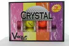 VGOLF - One Dozen Crystal Golf Balls - MULTI PACK  70 Compression 432 Dimple