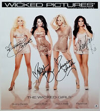 Porn Star STORMY DANIELS JESSICA DRAKE +2 Signed Wicked Girls Sexy Photo Poster