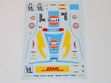 1/43 scale decals sheet for Tecnomodel Ferrari F430 Gulf / DHL ELMS #155