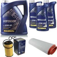 Ölwechsel Set 8L MANNOL Defender 10W-40 Motoröl + SCT Filter KIT 10201129