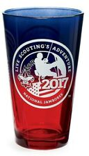 Boy Scout Jamboree Staff Pint Glass Ombre Red Blue Official Licensed BSA