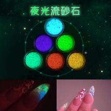 Glitter Luminous Nail Art Sticker Tips Decoration DIY Acrylic Manicure Color 5