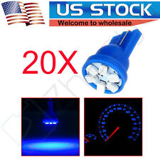 20x Blue 6 SMD T10 Wedge Interior LED Instrument  Pannel Gauge A/C Lights Lamps