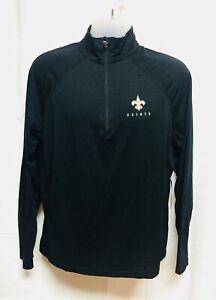 New Orleans Saints Black Fleece 1/4 Zip Pullover '47 Size S-2XL Impact