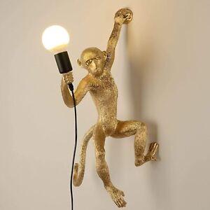 Seletti Wall Lighting Fixture Vintage Resin Monkey Light Wall Lamp for Living