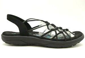 Skechers Black Stretch Slingback Slip On Casual Comfort Sandals Shoes Women's 11