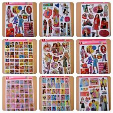 Barbie Stickers A4 size laser varieties pink fashion model card craft project