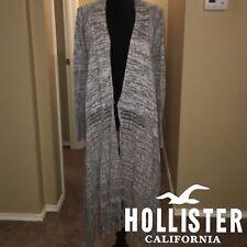 Hollister Gray Draped Blanket Cardigan with Fringing NWOT