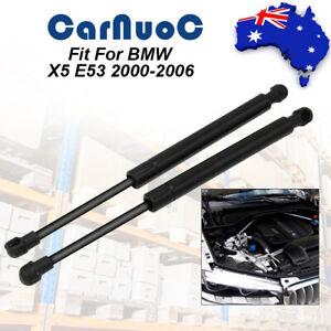 2Pcs Front Hood Bonnet Gas Lift Supports Liftgates Rod For 2000-2006 BMW X5 E53