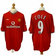 Manchester United Home Shirt Jersey 2000 2001 9 Andy Cole XXL Player Version VGC