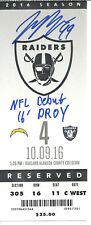 JOEY BOSA AUTO SIGNED NFL DEBUT TICKET CHARGERS VS. RAIDERS 10/9/16 ! JSA W