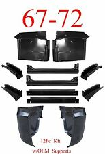 OEM 67 72 Chevy 12Pc Cab Repair Kit, X-Rocker, Cab Corner, Floor, Support, Inner